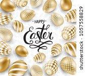 happy easter lettering... | Shutterstock .eps vector #1057558829