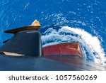 ship's bow and anchor  moving...   Shutterstock . vector #1057560269
