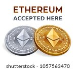 ethereum. accepted sign emblem. ... | Shutterstock .eps vector #1057563470