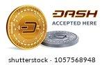 dash. accepted sign emblem.... | Shutterstock .eps vector #1057568948