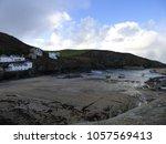 cornish coastal village | Shutterstock . vector #1057569413