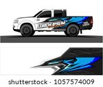 truck graphic kit. abstract ... | Shutterstock .eps vector #1057574009
