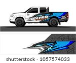 truck graphic kit. abstract ... | Shutterstock .eps vector #1057574033