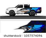 truck graphic kit. abstract ... | Shutterstock .eps vector #1057574096