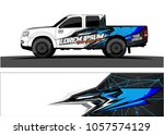 truck graphic kit. abstract ... | Shutterstock .eps vector #1057574129
