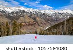 downhill skiing in telluride ...   Shutterstock . vector #1057584080