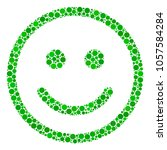 glad smiley collage of round... | Shutterstock .eps vector #1057584284