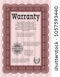 red warranty. with complex...   Shutterstock .eps vector #1057593440