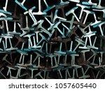 textures steel t bar  | Shutterstock . vector #1057605440