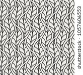 vector leaf seamless pattern.... | Shutterstock .eps vector #1057606553