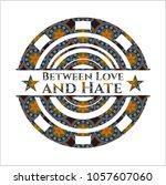 between love and hate arabic... | Shutterstock .eps vector #1057607060