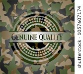 genuine quality on camo texture | Shutterstock .eps vector #1057607174