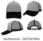 trucker grey net cap for... | Shutterstock .eps vector #1057607846