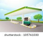 illustration of a petrol pump... | Shutterstock .eps vector #105761030