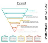 funnel business pyramid... | Shutterstock .eps vector #1057614659