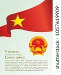 flag of vietnam  socialist... | Shutterstock .eps vector #1057619909