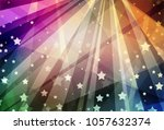 abstract stars and stripes... | Shutterstock . vector #1057632374