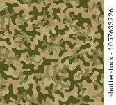 camouflage pattern. seamless.... | Shutterstock .eps vector #1057633226
