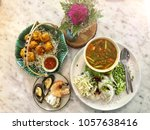 thai food wild curry with... | Shutterstock . vector #1057638416