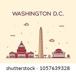 washington d. c.  usa. trendy... | Shutterstock .eps vector #1057639328