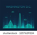 washington d. c.  usa. trendy... | Shutterstock .eps vector #1057639334