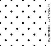 polka  polkadot seamless black... | Shutterstock .eps vector #1057640249