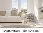 idea of white room with sofa... | Shutterstock . vector #1057641503
