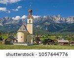 going  idyllic village in tyrol ... | Shutterstock . vector #1057644776