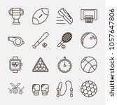 sport icon set. sport icon set  ... | Shutterstock .eps vector #1057647806