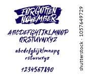 vector hand drawn alphabet.... | Shutterstock .eps vector #1057649729