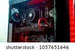 gamer pc unbranded   Shutterstock . vector #1057651646