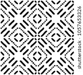 black and white seamless ethnic ... | Shutterstock .eps vector #1057653326