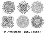 set of mandala indian floral... | Shutterstock .eps vector #1057655564