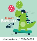 happy birthday   lovely vector... | Shutterstock .eps vector #1057656839