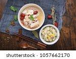 close up of fast food  pork... | Shutterstock . vector #1057662170