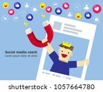 illustration vector of young... | Shutterstock .eps vector #1057664780