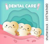 tooth with dental care concept... | Shutterstock .eps vector #1057665680