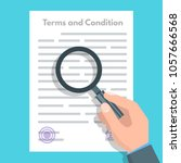 terms and conditions concept. ... | Shutterstock .eps vector #1057666568