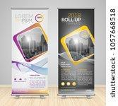 business roll up design... | Shutterstock .eps vector #1057668518