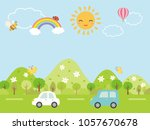 landscape driving the fresh... | Shutterstock .eps vector #1057670678