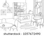 cafe bar graphic black white... | Shutterstock .eps vector #1057672490