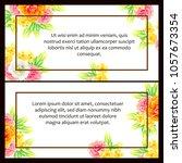 vintage delicate invitation... | Shutterstock .eps vector #1057673354