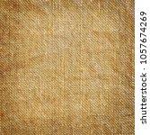 vintage linen texture  burlap... | Shutterstock . vector #1057674269