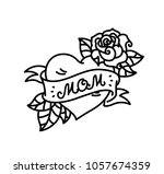 a tattoo with the inscription... | Shutterstock . vector #1057674359