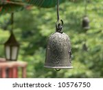 Bell in the buddhist temple, Seoul, South Korea - stock photo