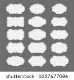 vector set vintage labels and... | Shutterstock .eps vector #1057677086