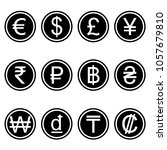 currency symbols icons simple... | Shutterstock .eps vector #1057679810