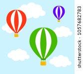 airballons fying creative... | Shutterstock .eps vector #1057682783