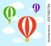 airballons fying creative... | Shutterstock .eps vector #1057682786