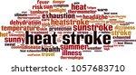 heat stroke word cloud concept. ... | Shutterstock .eps vector #1057683710